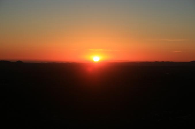 Sunset from below the summit of Monserate Mountain