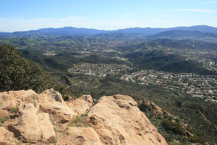 Looking southeast from Simi Peak