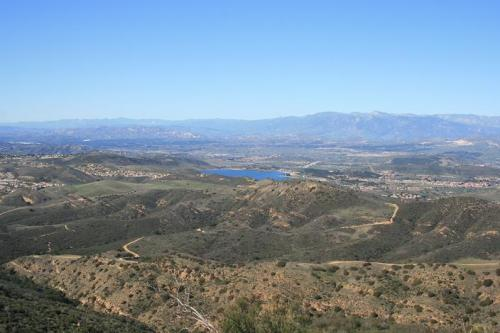 View of Thousand Oaks and vicinity from near Simi Peak's summit