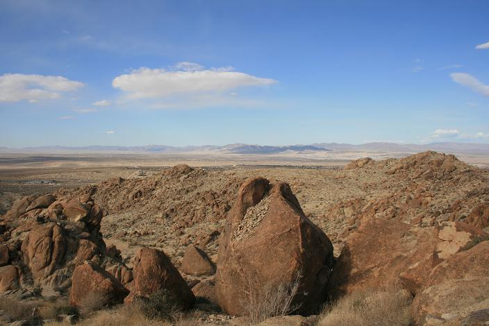 View of the desert from the trail to Fortynine Palms