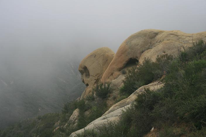 Skull-like rock on the Mesa Peak Motorway