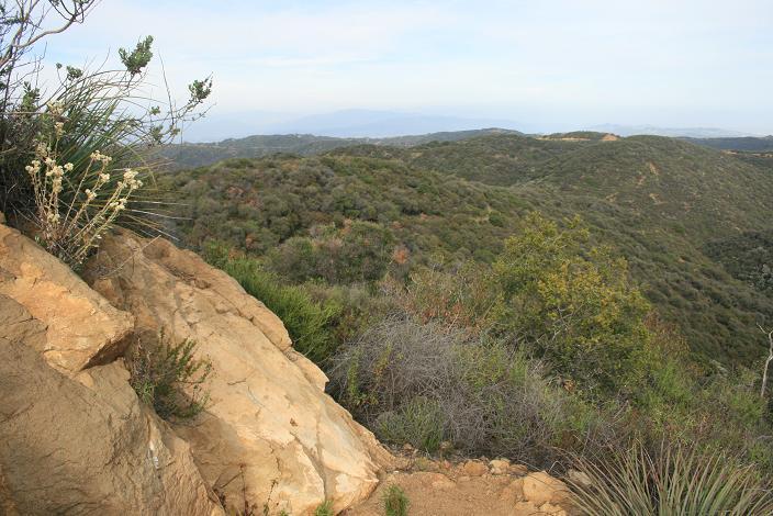Looking east, just below Temescal Peak