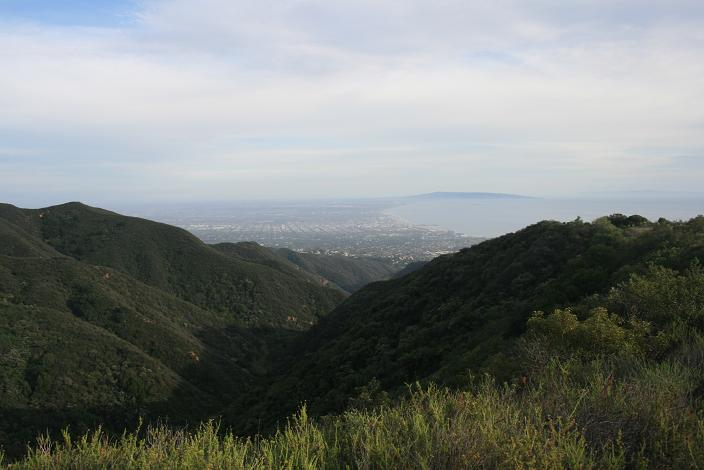 Looking south from the Temescal Ridge Trail