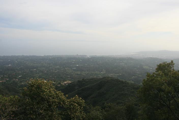 Looking south from the Montecito Overlook