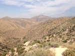 0:45 - Panoramic view before the fence and the steep descent
