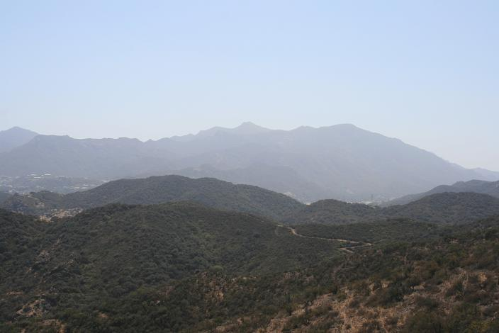 View of Boney Mountain and Sandstone Peak from the Whitehorse Canyon Trail