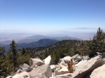 3:00 - You made it!  Looking southeast from San Jacinto Peak