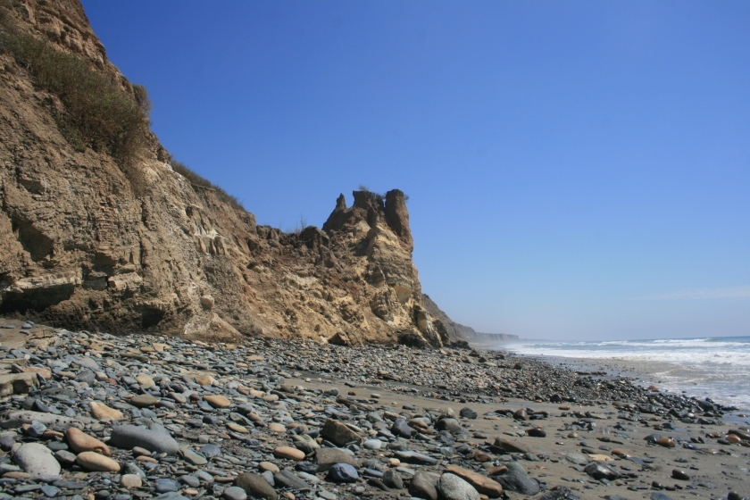 Rocky shore at San Onofre, California