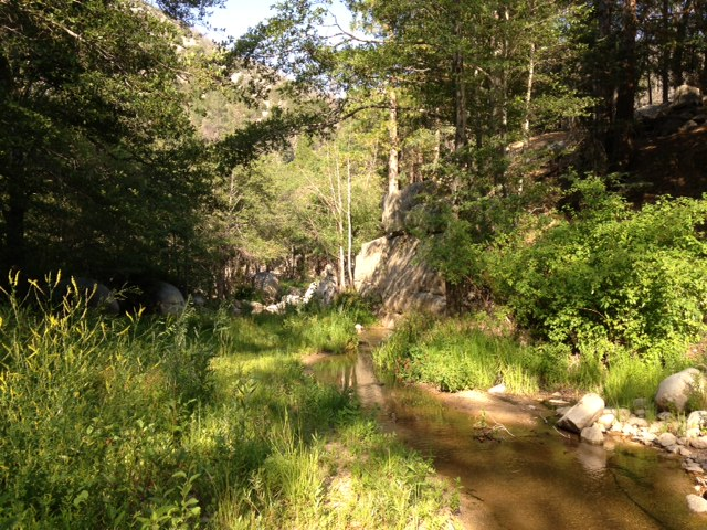 Crossing Deep Creek near Fisherman's Camp