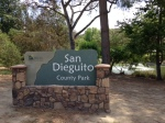 0:00 - North entrance to San Dieguito County Park (click thumbnails to see the full sized versions)