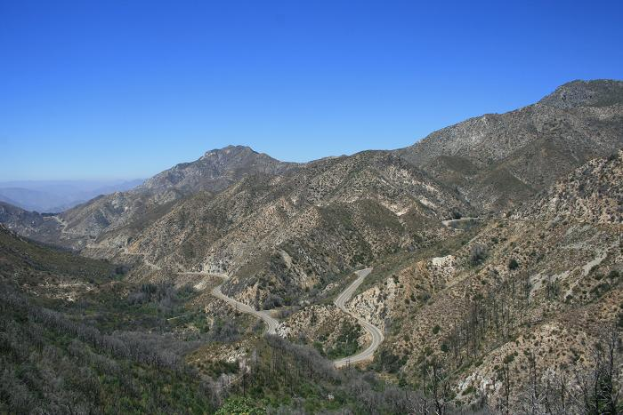 View of the Angeles Crest Highway from the Gabrielino Trail