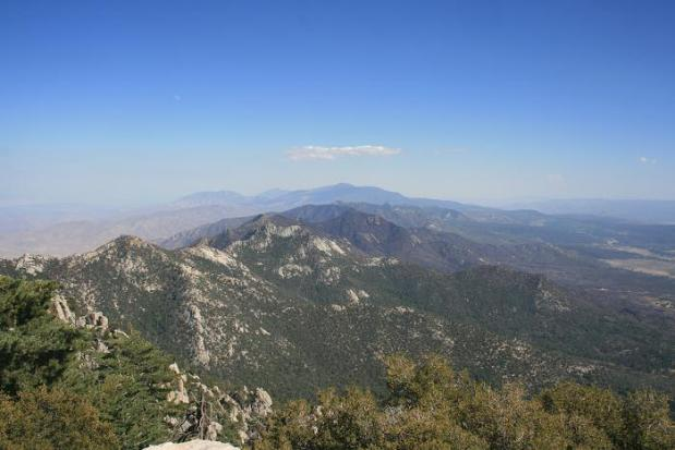 Looking southeast toward the Desert Divide from Tahquitz Peak