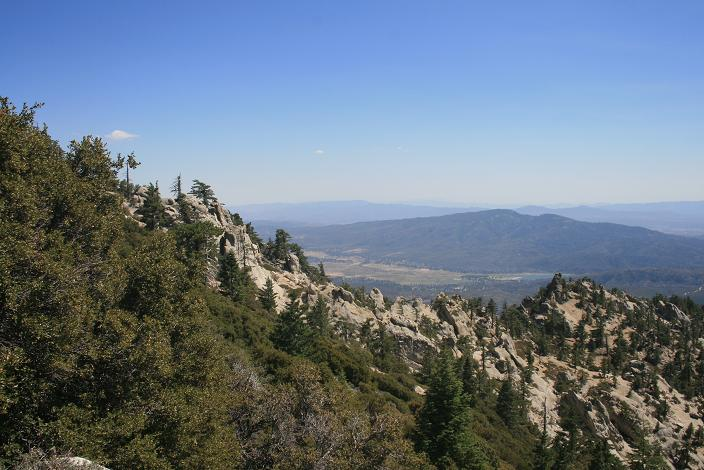 View of Garner Valley from the South Ridge Trail, Tahquitz Peak