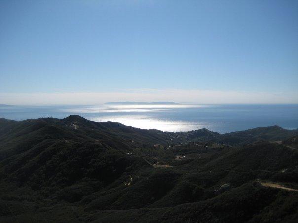 Ocean view from the Backbone Trail, Santa Monica Mountains, Malibu, CA