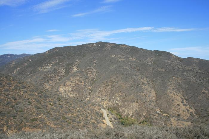 View of Mulholland Highway and the Santa Monica Mountains, Yellow Hill Fire Road