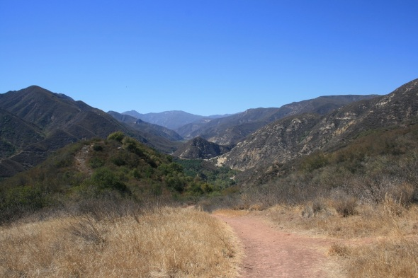 Looking west from the saddle on the Cozy Dell Trail