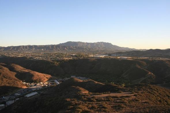 Looking south toward the Santa Monica Mountains from Lizard Rock