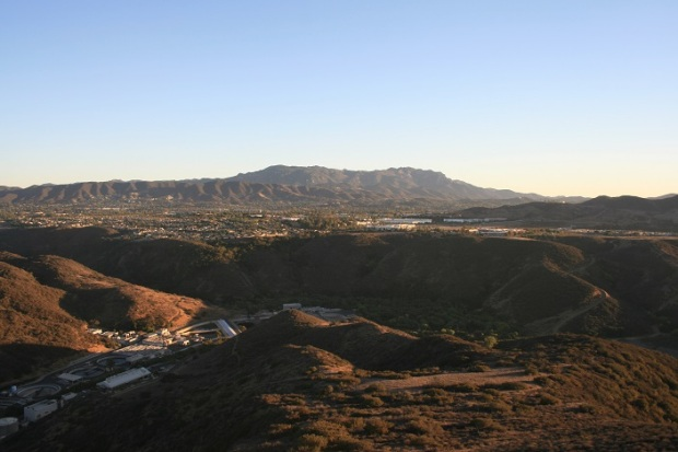 Looking south toward the Santa Monica Mountains from Lizard Rock