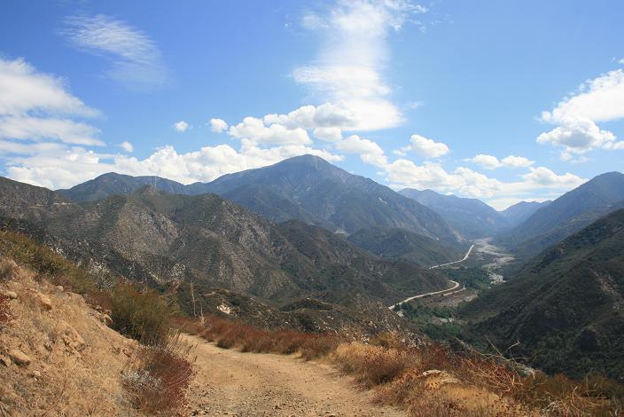 View of San Bernardino Peak from below Morton Peak