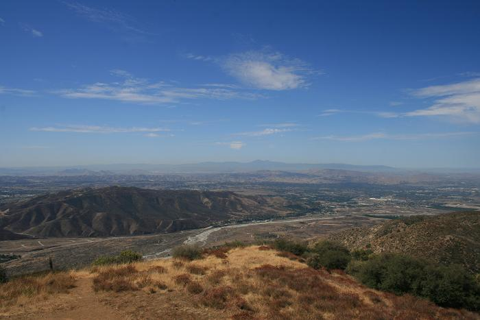 Looking southwest toward the Santa Anas from Morton Peak