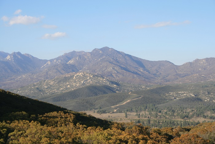 View of the Desert Divide and Garner Valley from the Ramona Trail