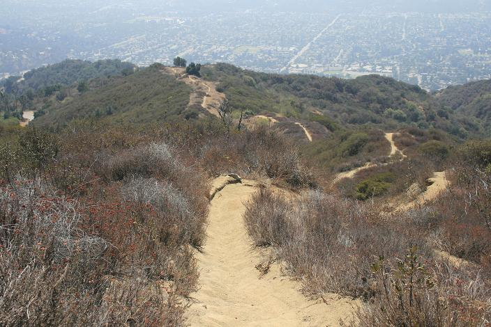 Steep descent on the Upper Colby Trail