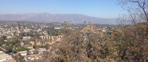 View of the San Gabriels and San Fernando Valley from Debs Park