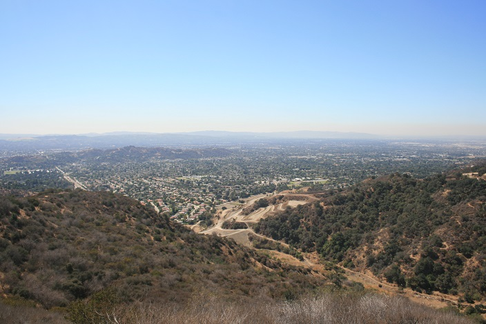 View of the San Gabriel Valley from the Poopout Hill Trail