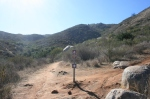 0:14 - Junction of the two main forks of the South San Pasqual Trails (times are approximate)