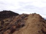 0:54 - Hard right on the ridge to the summit