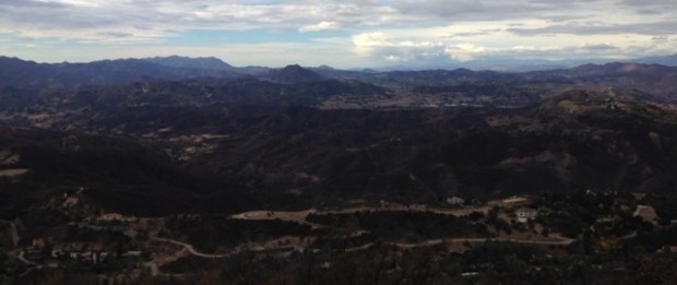 Looking west from Calabasas Peak