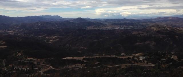 Looking west from Calabasas Peak