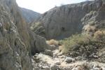 0:47 - Descending into the canyon toward the Pushwalla Palms