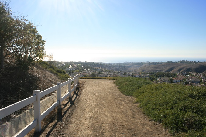 Ocean view from south of the Rock Garden, Forster Ridgeline Trail