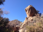 0:45 - Giant sandstone outcrop; pass beneath it deeper into Holcomb Canyon