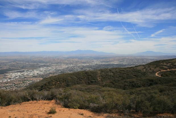 Looking east toward San Jacinto and San Gorgonio from Sierra Peak