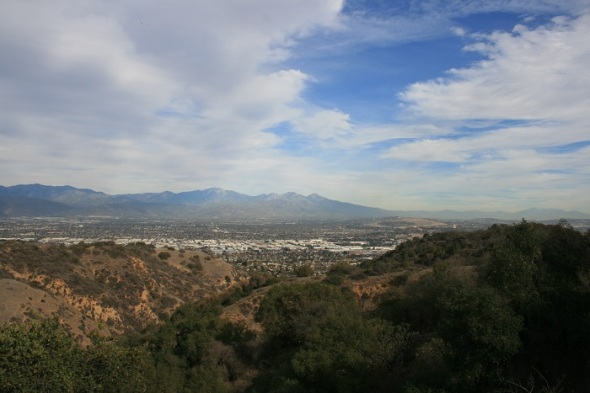View of the San Gabriels from the Coyote Trail