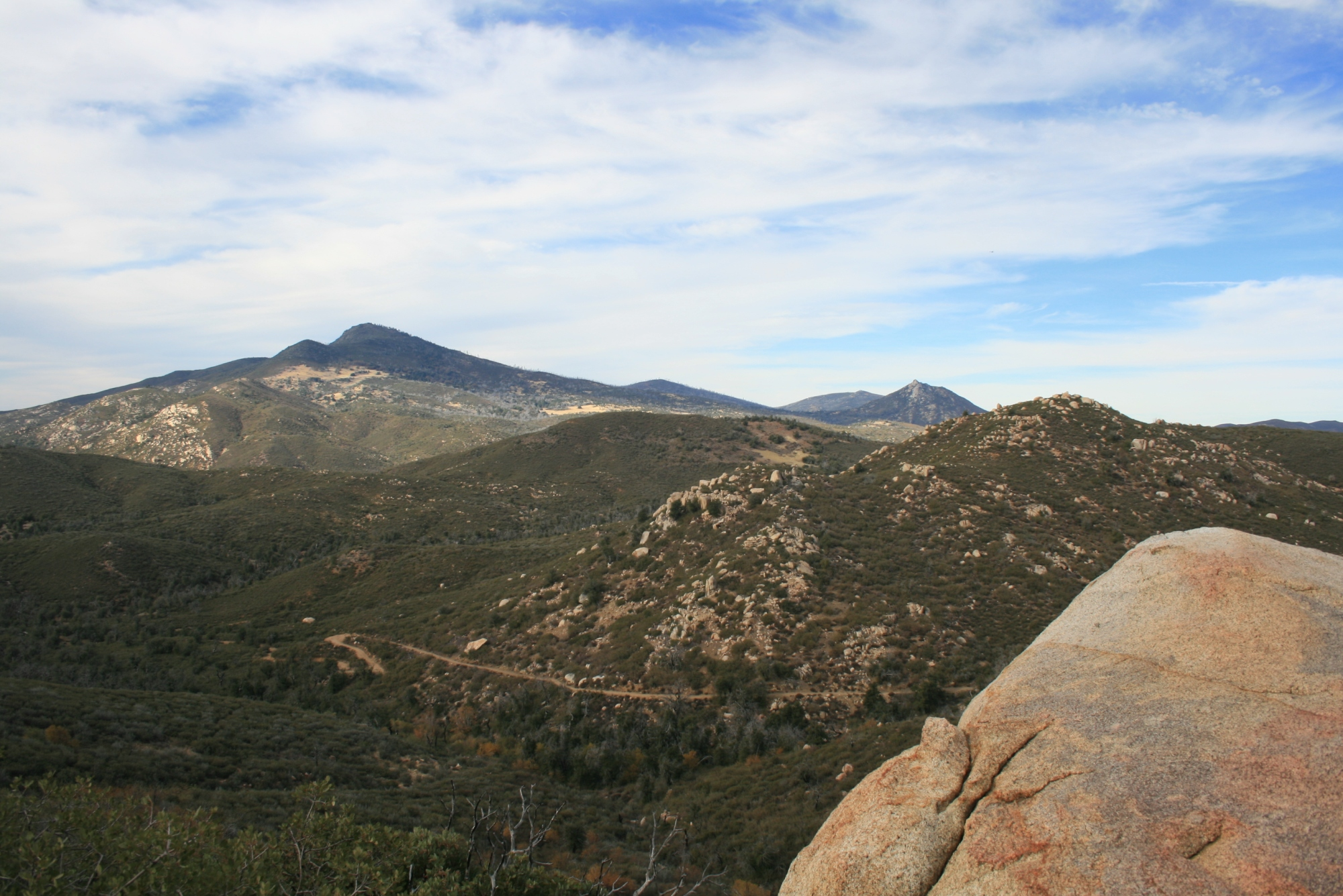View of Cuyamaca Peak from the summit of Oakzanita Peak, San Diego County, CA