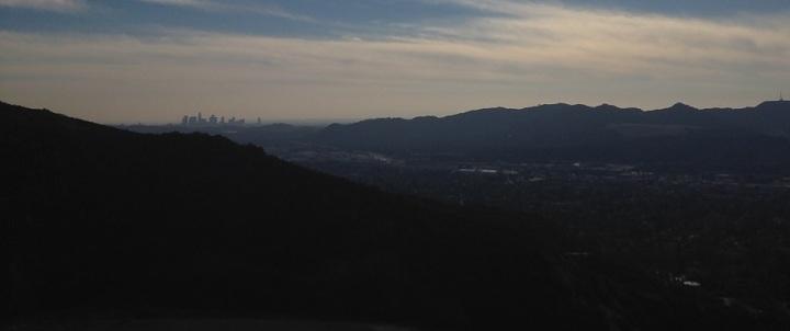 Los Angeles skyline from the Brand Motorway