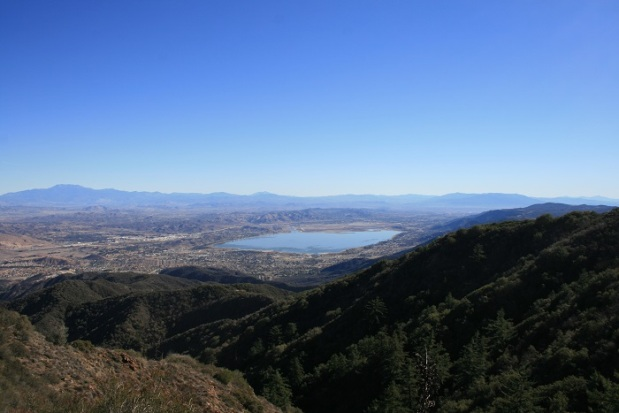 Lake Elsinore as seen from Main Divide Road