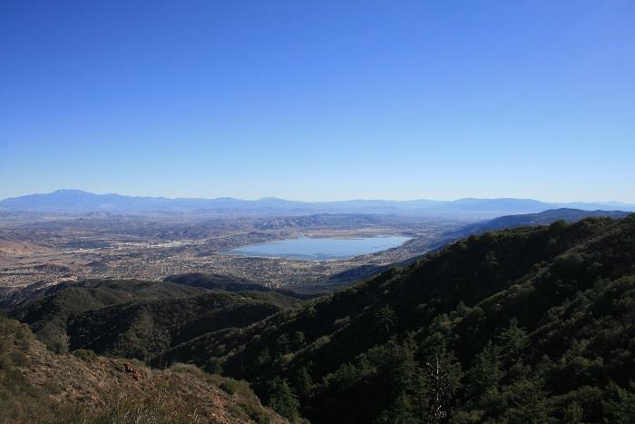 Lake Elsinore as seen from Main Divide Road