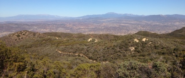 San Gorgonio and San Jacinto from the Dripping Springs Trail