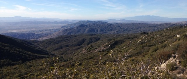 Old Saddleback and the San Gabriels from the road to Indian Mountain