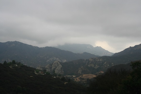 Morning mist over Topanga Canyon from the Summit to Summit Motorway