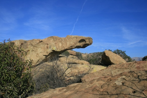 Snake-like rock on the Old Stagecoach Route