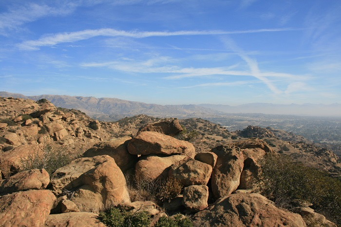 Panorama of Santa Susana State Historic Park from above the Devil's Slide Trail