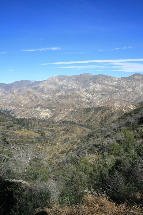 Strawberry Peak and Big Tujunga Canyon from the top of the Grizzly Flats Trail