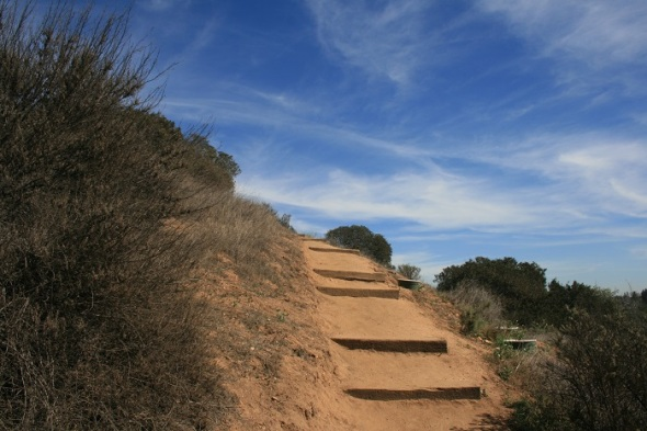 Climbing the stairs, Sycamore Canyon