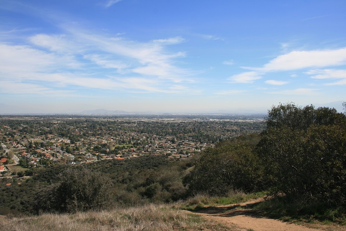 Southeast view from the top of the Sycamore Canyon Trail
