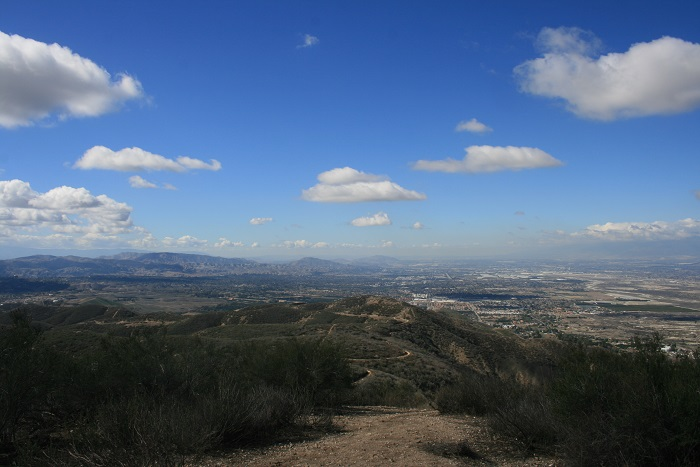 Looking west from Zanja Peak